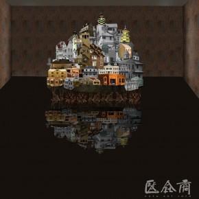 19 Xu Bacheng, A City Without Sky, 2010; mixed media, 600x300x200cm