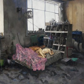 5. Li Dafang-HardwareStore, 2012; oil on canvas, 140 x 230 cm