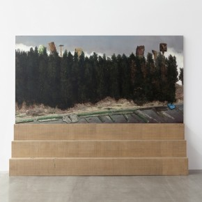 8.Li Dafang,_Nali Board Road(front), 2012; oil on canvas, painted wood, 230 x 285 x 50 cm
