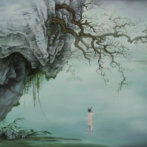 Guo Wen --Arriving at Surface among the Clouds; Oil on canvas, 120x150cm