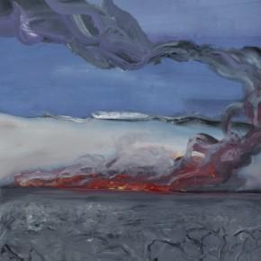 Li Di-Wild Fire in Winter Days, 2011; acrylic on canvas, 150x104cm