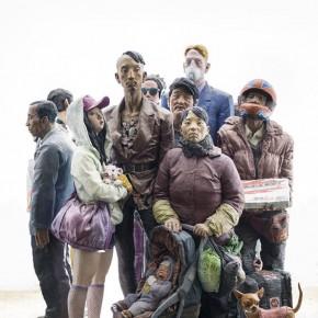 Liu Qing-The Scenery, 2011; coloring resin, mixed media, 290×280×240cm