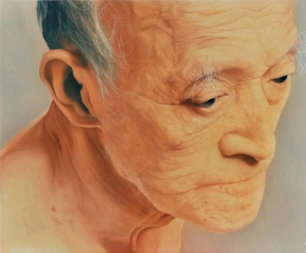 Zhang Shujian, Arhat, oil on wood, 45 x 55 cm. 2011, Courtesy of the artist.