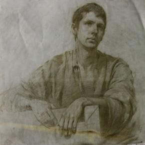 рисунок молодого человека 70х70, бум.пастель 2008г.