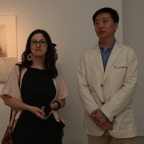 02 Curator Manuela Lietti and Cai Bin, Deputy Director of CAFAM at the exhibition