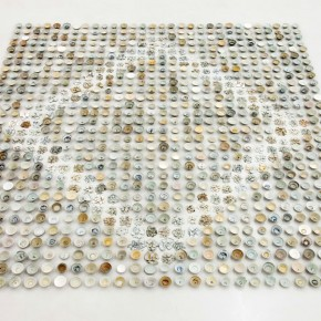 08.23.2012 He Xiangyu, 900 pieces of Blue and White, 2012; Porcelain, 500x500cm
