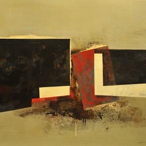 Cheng Xiangjun, Constitution, 2012; lacquer painting, 120x165cm