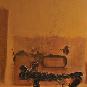 Cheng Xiangjun, Lacquer Book, 2012; lacquer painting, 120X165cm