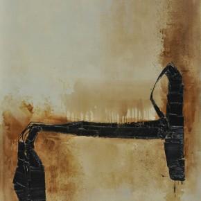 Cheng Xiangjun, Lacquer Book No.01, 2012; lacquer painting, 120X165cm