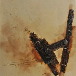 Cheng Xiangjun, Lacquer Book No.03, 2012; lacquer painting, 120X165cm