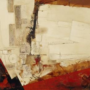 Cheng Xiangjun, Memories of Labrang, 2007; lacquer painting, 92×140cm