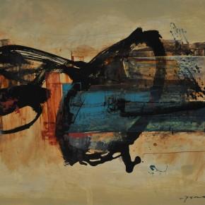 Cheng Xiangjun, Rhythm, 2012; lacquer painting, 40x50cm