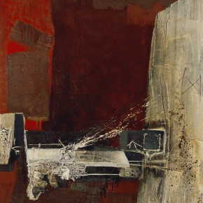 Cheng Xiangjun, The Prelude of Geladaindong, 2006; lacquer painting, 120×140cm
