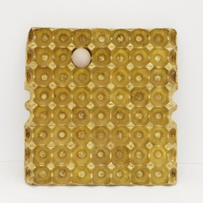 He Xiangyu, 200g Gold, 62g Protein, 2012; Copper Gold, Egg, 37.7x39x3.7cm