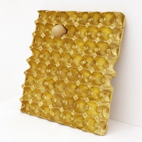 He Xiangyu, 200g Gold, 62g Protein_2012_Copper, Gold, Egg, 37.7x39x3.7cm