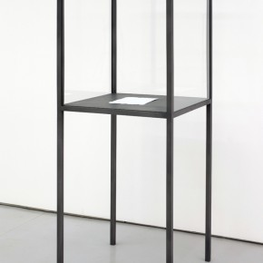 He Xiangyu, A letter in reply_2012_Methamphe amine on Paper 297x210cm_Vitrine 70x70x200cm