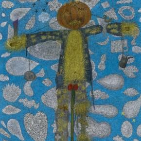 """Ouyang Chun, """"Birds not afraid of scarecrow"""", 2011; Oil on Canvas, 190×150cm"""
