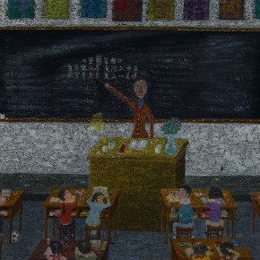 "Ouyang Chun, ""Classroom No.1"", 2011; Oil on Canvas, 150×200cm"