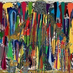"""Ouyang Chun, """"Color Painter No.2"""", 2010; Color-splash on canvas, 180×230cm"""