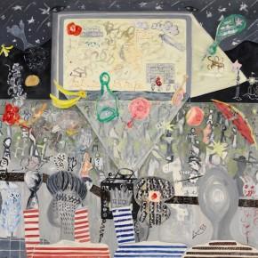 "Ouyang Chun, ""Open-Air Cinema No.1"", 1999; Oil on Canvas, 140×150cm"