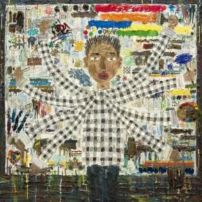 "Ouyang Chun, ""Prolific Painter"", 2012; Acrylic on canvas, 205×205cm"