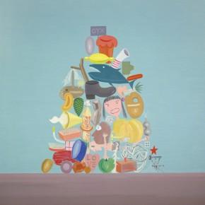 """Ouyang Chun, """"Seeds"""", 2003; Oil on Canvas, 220×180cm"""