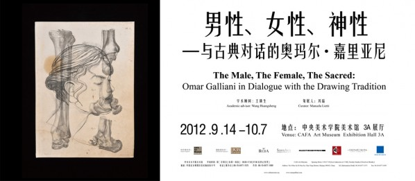 Poster of The Male, The Female, The Sacred Omar Galliani in Dialogue with the Drawing Tradition