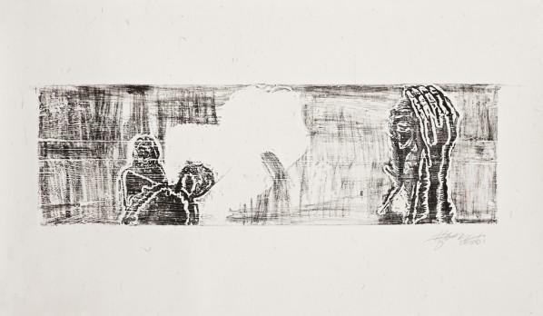Untitled, 2006, Woodcut, 200×117cm