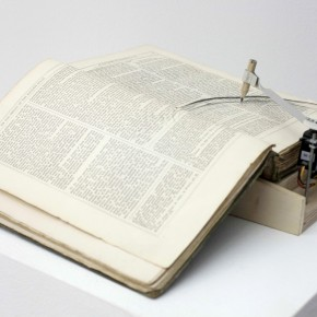 Yang Jian, Reliques of Ancient English Poetry, 2010; Book, Motor, Chip, Remote-control, Wood, Small Sear, Inflatable Pool, Four Iron Pipe, 19x29x11cm_detail_02