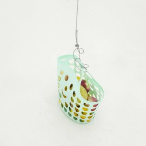 Yang Jian, Untitled, 2012; Pulley, Cable, Fruit basket, Fruit