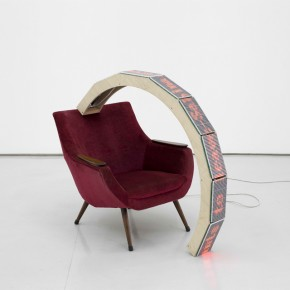 Yang Jian, Want to leave, 2010; LED Light, Chair, 80x25x106cm