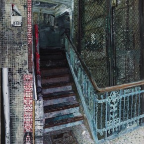 Yuan Yuan, Ground Floor, 2012; oil on canvas, 200×125cm