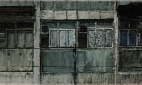 Yuan Yuan, The 30th Floor, 2012; oil on canvas, 38×180cm