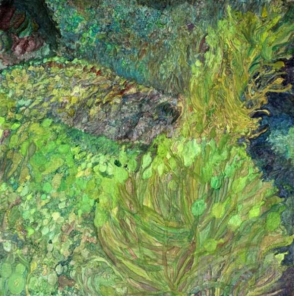 Zhang Zhizhou-Coral•Left, 2010; acrylic on canvas, 90×90cm