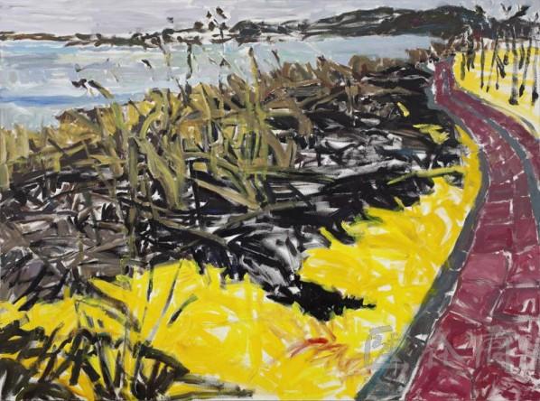 Zhang Zhizhou-River Bank• Left, 2009; acrylic on canvas, 200×150cm