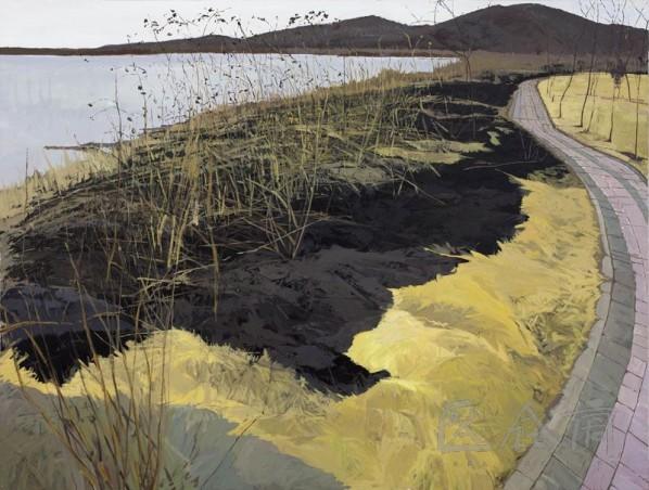 Zhang Zhizhou-River Bank• Right, 2009; acrylic on canvas, 200×150cm