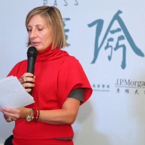 03 Artist representative Grimanesa-Amorós addressed to the reporters at the press conference.
