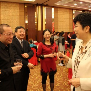 03 Prof. Chen Qi talked with Zhao Shi, Party Secretary and Vice Chairman of China Federation of Literary and Art Circles