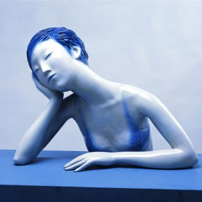 "09 Yu Fan, ""A Shanghai Girl"", 2005; FRP spray paint, 52×67×45cm"