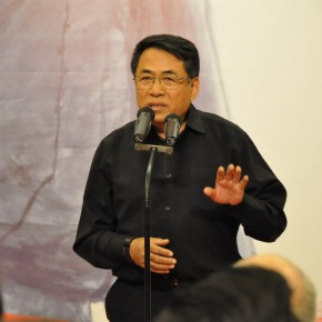 13 Yang Yunfei, renowned artist and Direcor of China Academy of Oil Paintings spoke at the ceremony.