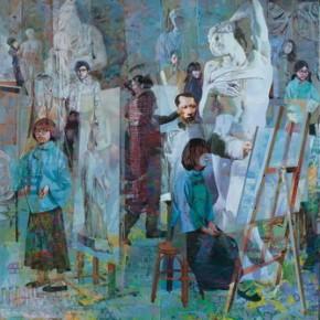 22 Ji Peng and Wu Lieyan, White Dream, 2012; acrylic on canvas, 244×732cm