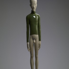 28 Yu Fan, Mr. W Wears Green Shirtt, 2007; copper, spray paint, 140×30×25cm