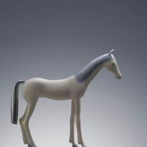 "35 Yu Fan, ""Pony"", 2009; copper, spray paint, 36×39×9cm"