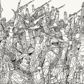 36 Zhang Minjie, Footprint, Pingxingguan Victory in 1937; 1921-2011(detail)
