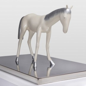 "39 Yu Fan, ""Standing Pony"", 2008; copper, spray paint, 85x55x23cm"