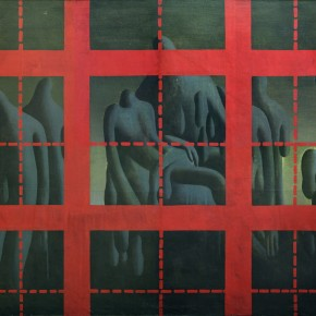45 Wang Guangyi, Red Rationality Revision of the Idols, 1987; oil on canvas