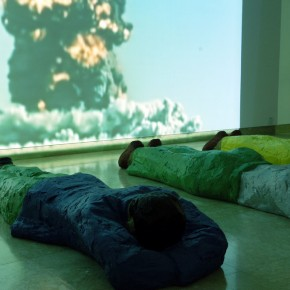 53 Cold War Aesthetic – People Living in Fear; installation, 215 × 60 × 30cm P sculpture, Version 1