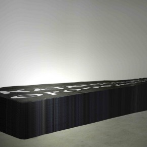 68 Externals Drawing of Holy Material 01, 2012; Installation oilcloth and lime, 80×1000cm