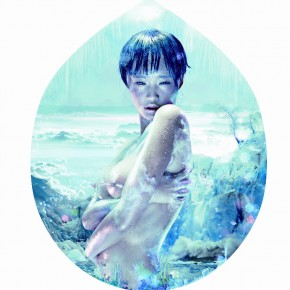 Chen Man, Five Elemeants-Water, 2010; lamp house, 400x240cm