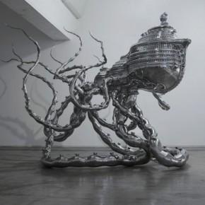Chen Wenling, Ark of Transcendence, stainless steel, 410×700×300cm, 2012.